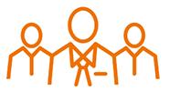 3 personnes pictogramme notre équipe fiducie